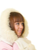 Beautiful smiling girl in warm clothes Stock Photography