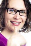 Beautiful smiling girl wearing braces Royalty Free Stock Photography