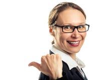 Beautiful smiling girl wearing braces Stock Images