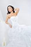 Beautiful smiling girl in wedding dress Royalty Free Stock Image
