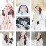 Beautiful Smiling Girl Wintertime Royalty Free Stock Image