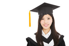 Smiling Graduate asian woman Stock Images
