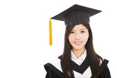 Smiling Graduate asian woman Stock Images