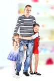 Beautiful smiling happy family Stock Photography