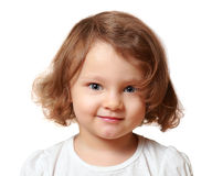 Beautiful smiling kid girl isolated Stock Images