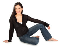 Beautiful Smiling Lady Isolated on White Stock Photos