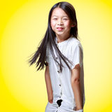 Beautiful smiling little asian girl Royalty Free Stock Image