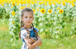 Beautiful smiling little girl on Royalty Free Stock Photo