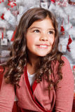 Beautiful smiling little girl at Christmas Royalty Free Stock Images