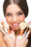 Beautiful smiling makeup model Royalty Free Stock Photography