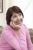 Beautiful Smiling Mature Woman Stock Image