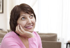 Beautiful Smiling Mature Woman Stock Photos