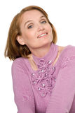 Beautiful smiling middle aged woman Stock Photography