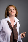 Beautiful smiling middle aged woman Royalty Free Stock Photography