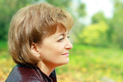 Beautiful smiling middle-aged woman Royalty Free Stock Photo