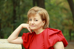 Beautiful smiling middle-aged woman Royalty Free Stock Photography