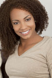 Beautiful Smiling Mixed Race African American Girl Royalty Free Stock Photo