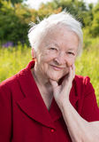 Beautiful smiling old woman Royalty Free Stock Photos