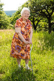 Beautiful smiling old woman Royalty Free Stock Photography