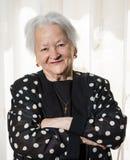 Beautiful smiling old woman Stock Photos