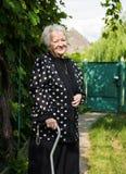Beautiful smiling old woman Stock Photo