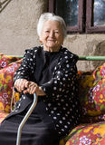 Beautiful smiling old woman Stock Images