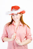 Beautiful smiling red haired girl Royalty Free Stock Images