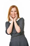 Beautiful Smiling Redhead Portrait Royalty Free Stock Photo