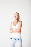 Beautiful smiling sensuality blonde Royalty Free Stock Photography