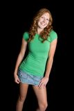 Beautiful Smiling Teen Girl. Beautiful smiling redhead teen girl Stock Photos