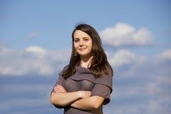 Beautiful smiling teenage girl Stock Photos