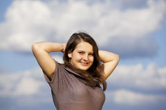 Beautiful smiling teenage girl Stock Photo