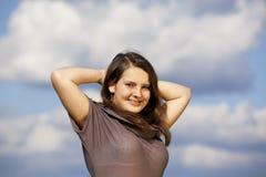 Beautiful smiling teenage girl Stock Photo
