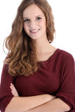 Beautiful smiling teenage girl Stock Photos