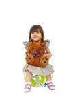 Beautiful smiling toddler girl Royalty Free Stock Images