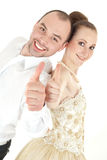 Beautiful smiling wedding couple Stock Image