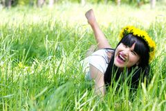 Beautiful smiling woman Stock Photos