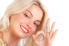Beautiful smiling woman. Royalty Free Stock Images