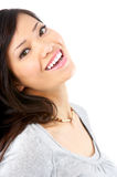 Beautiful smiling woman. Isolated over white background Stock Photos
