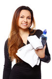 Beautiful smiling woman with bottle of water Stock Photos