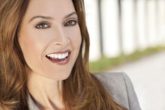Beautiful Smiling Woman or Businesswoman Stock Photography