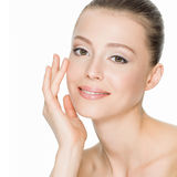 Beautiful smiling woman with clean skin Royalty Free Stock Images
