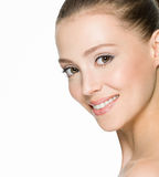 Beautiful smiling woman with clean skin Stock Photo