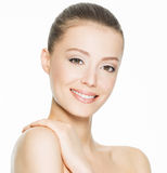 Beautiful smiling woman with clean skin Stock Images