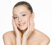 Beautiful smiling woman with clean skin Royalty Free Stock Image