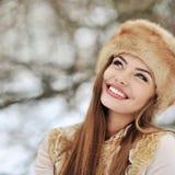 Beautiful smiling woman - closeup Royalty Free Stock Photo