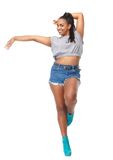 Beautiful smiling woman in dance pose Stock Photography
