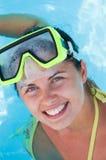 Beautiful smiling woman diver Royalty Free Stock Photos