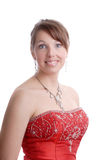 Beautiful smiling woman in evening dress Royalty Free Stock Image