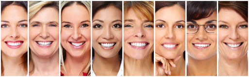 Beautiful smiling woman face. Stock Photography